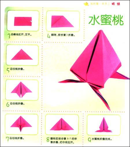 折纸桃子详细步骤图