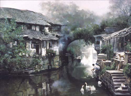 当代油画家风景画精选.水乡